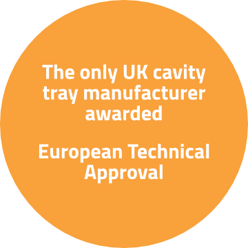 The only UK cavity tray manufacturer awarded European Technical Approval